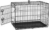 AmazonBasics - Jaula para perros plegable, de metal,...