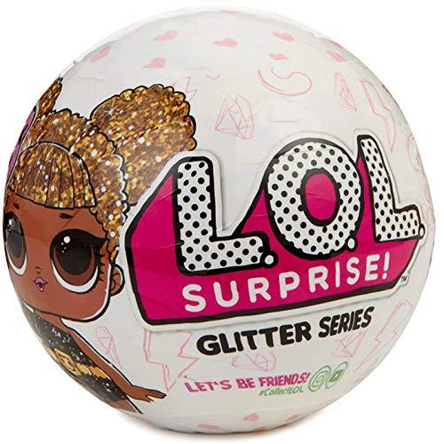 L.O.L. Surprise! Glitter, Sfera con Mini Doll a Sorpresa, 7 Livelli, Modelli Assortiti, Modelli assortiti, 1 Pezzo
