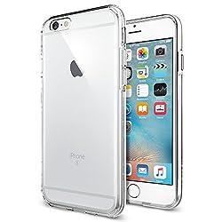 Kaufen iPhone 6S Hülle, Spigen® [Ultra Hybrid] Luftpolster-Technologie [Crystal Clear] Einteilige Transparent Handyhülle Durchsichtige PC Rückschale mit Silikon TPU Slim Bumper Schutzhülle für Apple iPhone 6/6S Case Cover - Crystal Clear (SGP11598)
