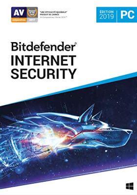 Bitdefender Internet Security 2019 | Standard | 5 PC appareil | 1 An | PC | Code d'activation PC - envoi par email