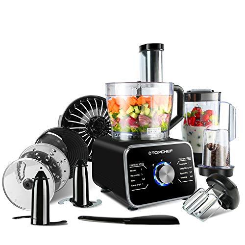 Topchef robot da cucina 1100W Robot da Cucina Compatto (con accessori inclusi: gancio per impastare,...