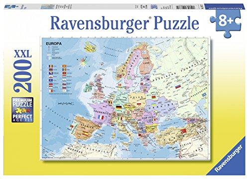 Ravensburger 12837–Carta politica Europa bambino puzzle
