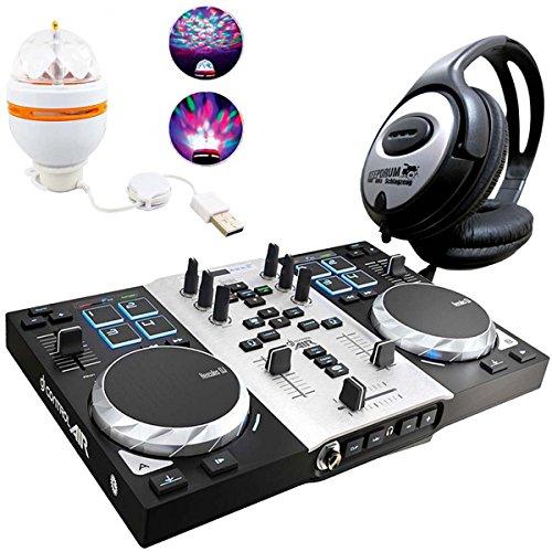 Hercules djcontrol Air S controlador DJ Party Pack Incluye LED de fiesta de Light