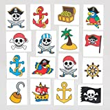 Baker Ross Calcomanías temporales de pirata para niños - Perfectas para bolsas sorpresa o como regalo para niños (pack de 24).