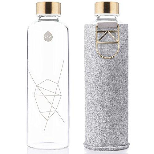 EQUA Erwachsene Mismatch 750 ml Trinkflasche, Gold, S