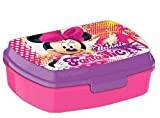Kids Euroswan Sandwichera Estampado Minnie Mouse, Plástico, Multicolor, 15x10x5 cm