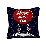 Sky Trends Valentine Combo Gift For Girlfriend Printed Cushion Cover With Filler Best Gift For Kiss Day Propose day Promise Day Hug Day Rose Day Gifts