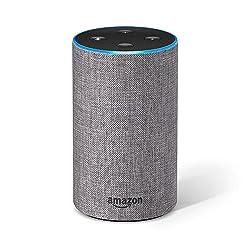 Kaufen Amazon Echo (2. Generation), Intelligenter Lautsprecher mit Alexa, Hellgrau Stoff