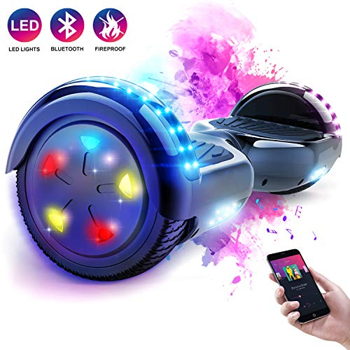 MARKBOARD Scooter Self Balance Scooter Elettrico, Hover Scooter Board Balance Scooter con LED, Due...