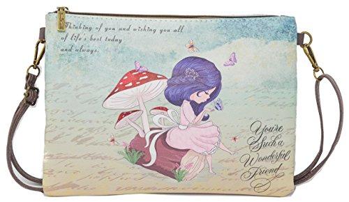 Bolso bandolera, Colección 2018, Diseño mariposas, bolsos de mujer, bolso hombro mujer, bolsas bandolera.