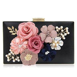 33154e11e6ad7 PARADOX (LABEL) Women Flower Clutches Evening Handbags Wedding Clutch Purse