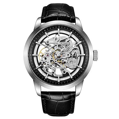 Orologio da Uomo Pagani Design Automatico Con Meccanismo Di Scheletro trasparente-orologio da polso da uomo impermeabile che