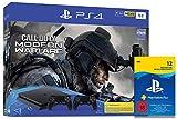 Sony Interactive Entertainment PlayStation 4  Slim inkl. 2 Controller und Call of Duty: Modern Warfare - Konsolenbundle (1TB, schwarz, Slim) + PlayStation Plus Mitgliedschaft   12 Monate