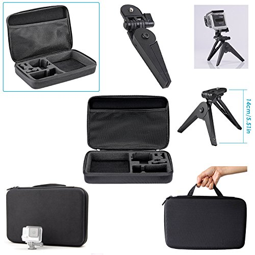 Neewer 21-in-1 Accessori Kit per GoPro Hero Session/5 Hero 1 2 3 3+ 4 5 SJ4000 5000 6000 DBPOWER AKASO VicTsing APEMAN WiMiUS Rollei QUMOX Lightdow Campark e Sony Sport Dv