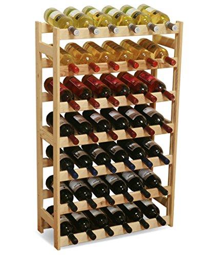 MODO24 - Cantinetta per Vini in Legno Non trattato, Legno, Non trattato, 63.0 x 25.0 x 102.0 cm