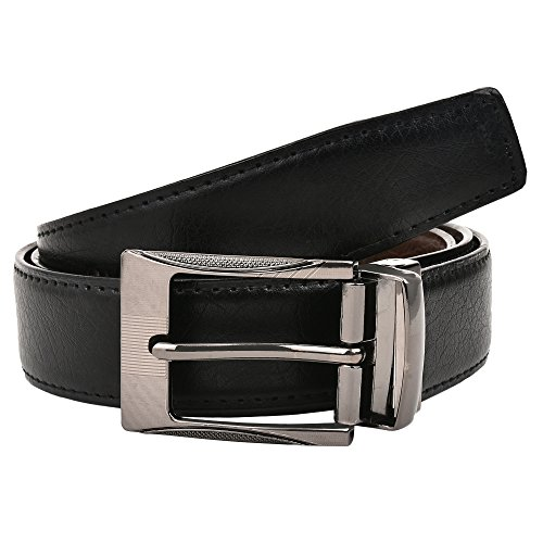 Creature Reversible Pu-Leather Formal Belt For Men(Color-Black/Brown  BL-01   46 inches lenght   Waist upto -40 inches)