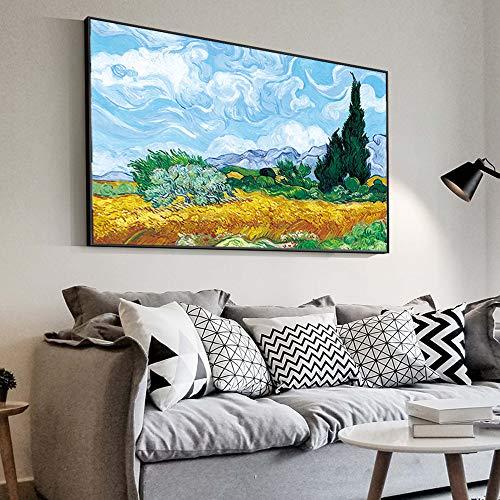 RTCKF Paesaggio impressionista Olmo da Parete di Van Gogh Pittura Replica su Parete Art Canvas...
