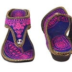 Beauty Craft Rajasthani/Jaipuri Ethnic Zari Embroidery Work Chappal Sandal