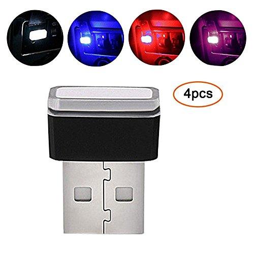Pawaca, illuminazione auto USB LED, per interni auto, luce di atmosfera, wireless, universale, per...