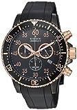Edox Herren Chronograph Quarz Uhr mit Gummi Armband 10227-357RNCA-NBR