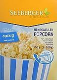 Seeberger Mikrowellen Popcorn Salzig, 8er Pack (8 x 300 g)