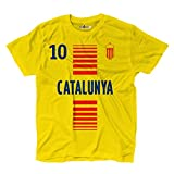 Camiseta T-shirt hombre nacional deporte Cataluna Catalunya 10 futbol deporte Europe Bandiera 2 L