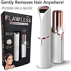 HRIDAAN's Lipstick Shape Painless Electronic Facial Hair Remover Shaver For Women (Battery Included)
