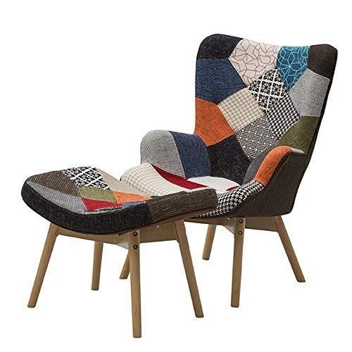 Fashion Commerce, 01-FC4, Poltrona con Sgabello, Multicolore, 68 x 77 x 96 cm
