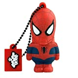 Tribe Disney Marvel Avengers Spiderman Chiavetta USB da 8 GB Pendrive Memoria USB Flash Drive 2.0 Memory Stick, Idee Regalo Originali, Figurine 3D, Archiviazione Dati USB Gadget in PVC con Portachiavi - Rosso