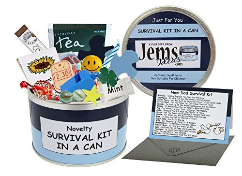 Jemsideas Dad to Be. Humorous Novelty Fun - New Parent/Daddy/Father. Baby Present and Card All in One. Customise Your can Colour. Blue/Navy