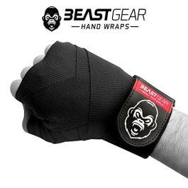 Beast Gear Advanced boxe mano avvolge–Qualità superiore mano avvolge per sport di combattimento, arti marziali MMA e ★ 4.5meter bendaggio elastico di
