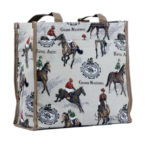 SIGNARE Bolso tapiz Shopper de moda mujer bolso de hombro Animal (Carreras)