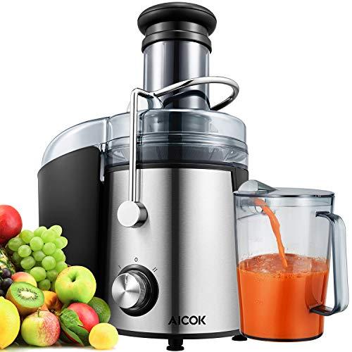 Aicok Centrifuga Frutta e Verdura 800W Estrattore di Succo, 75mm centrifuga a bocca larga, Con Juice...