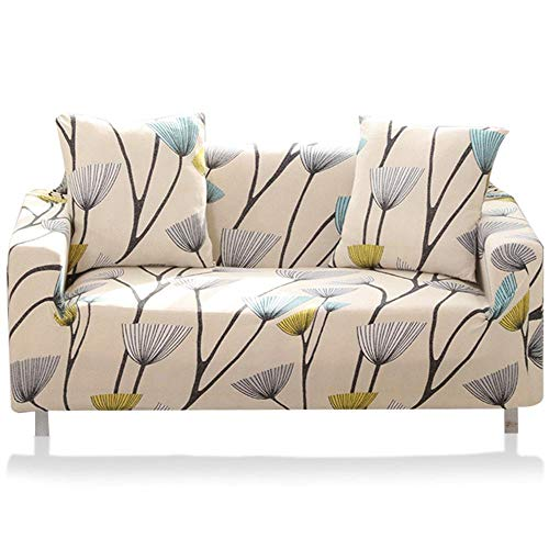 Volwco Stretch Sofa Slipcover - Furniture Protector Easy Stretch Elastic Fabric Sofa Protector Slip Cover Washable Sofa Couch Covers for 1/2/3/4 Seater, Flower Bird Pattern (3 Seater, 03
