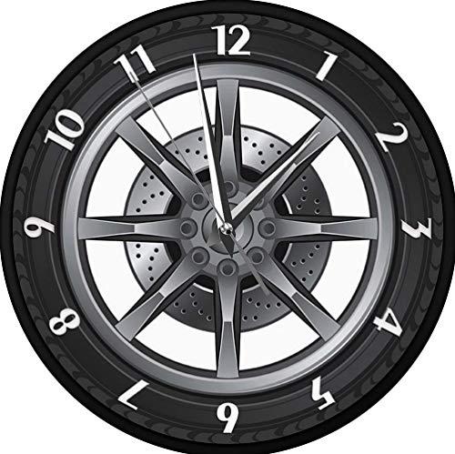 Orologi da parete Ruota per pneumatici Orologio da parete Riparazione auto Ruota per pneumatici...