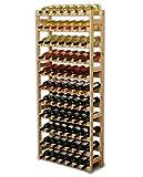 MODO24 Weinregal, Holz, unbehandelt 72.5 x 25 x 166 cm, 25-Einheiten