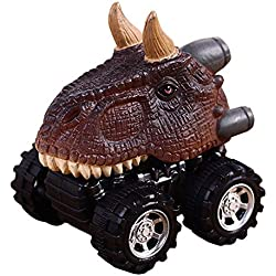 Fossrn Mini Dinosaurio Tire hacia Atrás el Coche de Juguetes para Niños Niñas Bebe (A)
