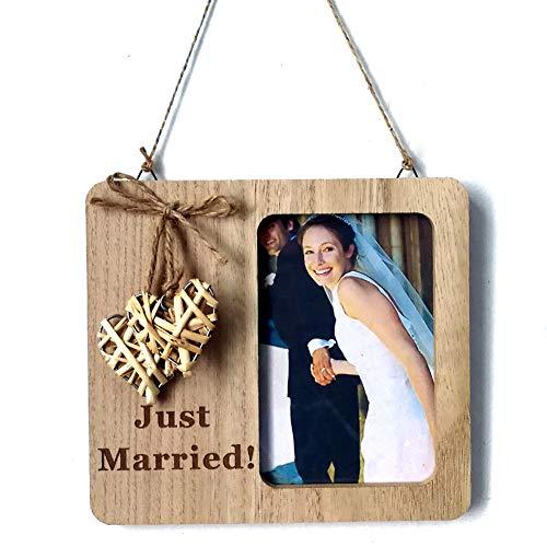 Greenlans Sweet Love Cornice per Foto ricordo sposi Just Married in Legno da Parete Decor Multi