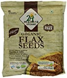 24 Mantra Organic Flax Seeds, 200g (Pack of 4)