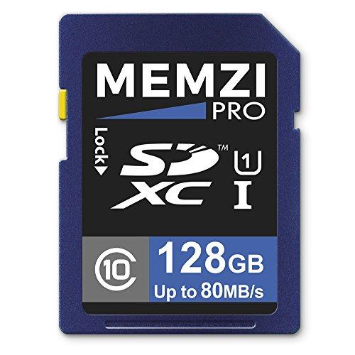 Memzi, Pro, memory card da 128 GB, classe 1080MB/s, scheda SDXC per fotocamere digitali Canon...