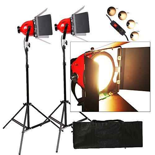 Dimmer Built In Pro Photo Video Studio continuo Testa Rossa Luce 800W Video Luci 5Mcord 2 set