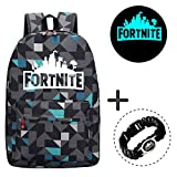 Gorgebuy Luminous Backpack - Galaxy Schoolbag Brillo en la Mochila Oscura Mochila Laptop Book Satchel Bolsa de Senderismo Boys Girls Bonus 1 pc Cool Bracelet