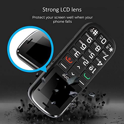 Artfone GSM téléphone Senior Portable Débloqué avec Grandes Touches, Bouton SOS, 1400mAh Batterie 9