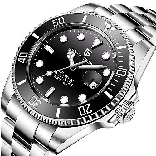 Pagani Design Automatic Divers orologi orologio analogico uomo automatico con cinturino in acciaio...