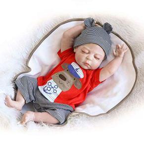 ZIYIUI 20 Pulgadas 50 cm Muñecas Bebe Reborn Silicona Cuerpo Completo Durmiendo con Los Ojos Cerrados Muñecas Reborn Niño Parecen De Verdad Bebes Reborn Hecho a Mano Juguete