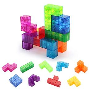 Welltop Bloques de construcción magnéticos, Juguetes magnéticos Magic Cube para niños Adultos Rubik'S Cube Stress Relief, Rompecabezas educativos