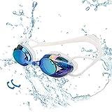 Yimidon Occhiali da Nuoto, Professionali Occhialini da Piscina Anti-Appannamento Specchio Protezione UV Impermeabile, Adatti per Donne, Uomini e Adolescenti, Blu