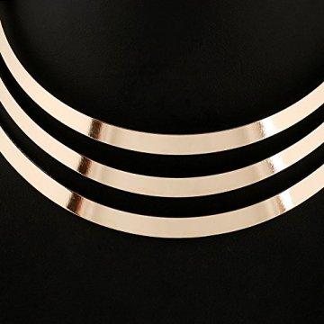 1pieza Vintage Multilayer Cadena de mujer, Egipto Estilo Collar para mujer, Golden Cadena kt003 6