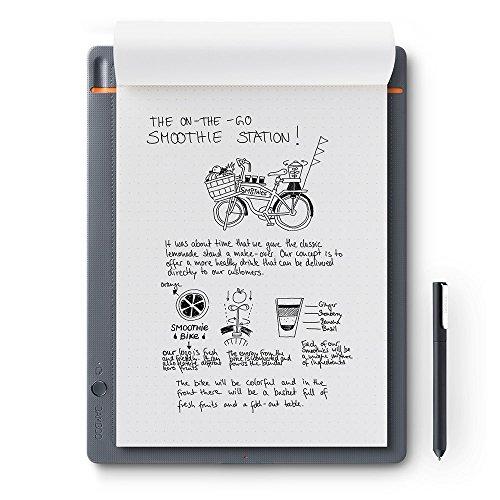 WACOM Bamboo Slate A4 Smartpad / Digitalizzatore di Appunti e Disegni su Carta, Grigio Chiaro /...