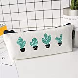 Estuche Cactus Para Lápices Blanco Y Simple